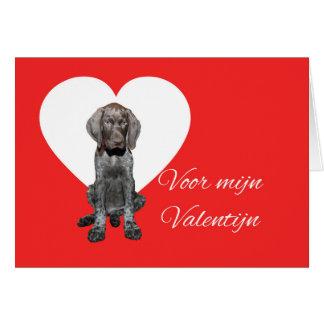 オランダのValentijnの光沢のあるハイイログマのバレンタイン カード