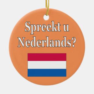 オランダを話しますか。 オランダ。 旗 セラミックオーナメント