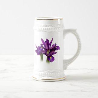 オランダアイリス紫色の感覚 ビールジョッキ