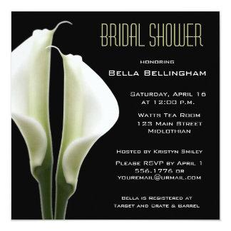 オランダカイウのユリのブライダルシャワーの招待状 カード