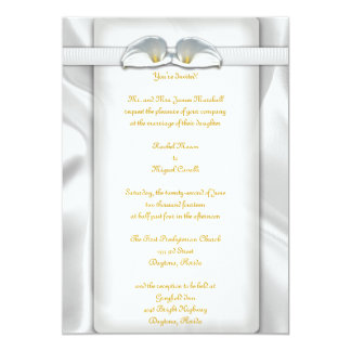 オランダカイウのLillyの白い招待状 カード