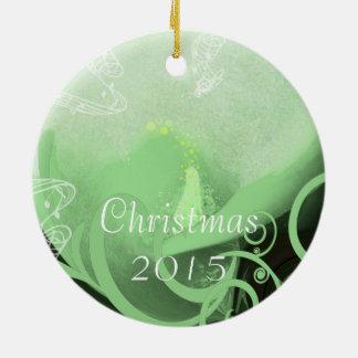 オランダカイウユリのクリスマスは写真のオーナメントをつなぎます セラミックオーナメント