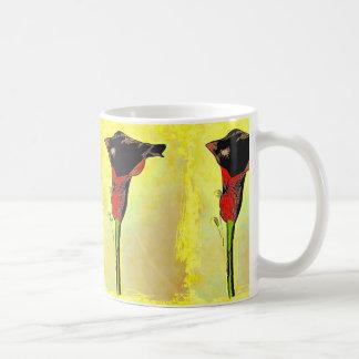 オランダカイウユリのポップアートのデザインのマグ コーヒーマグカップ