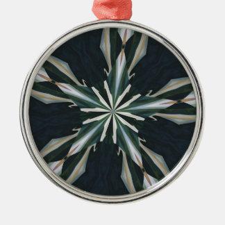オランダカイウユリの星の万華鏡のように千変万化するパターン メタルオーナメント
