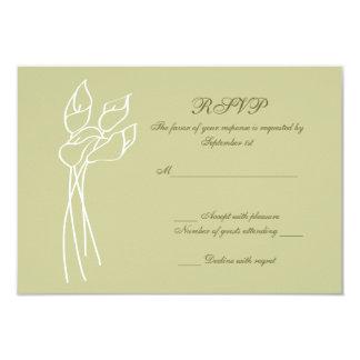 オランダカイウユリの結婚式のrsvp カード