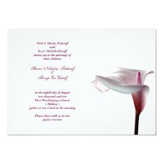 オランダカイウユリの結婚式招待状 カード