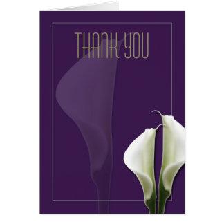 オランダカイウユリは紫色のノート感謝していしています カード