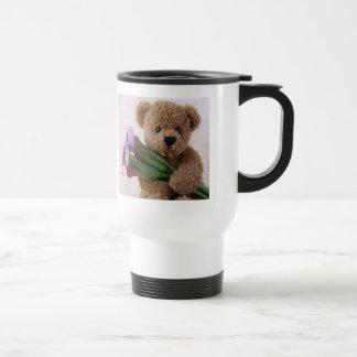 オランダカイウユリ旅行通勤者のコーヒー・マグを持つくま トラベルマグ