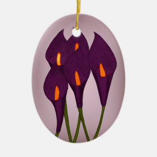 オランダカイウユリ(紫色) (ドア・ハンガー) セラミックオーナメント
