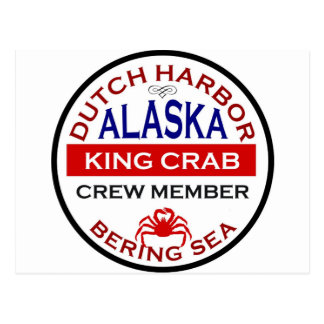 オランダ港のアラスカのタラバガニ乗組員 ポストカード