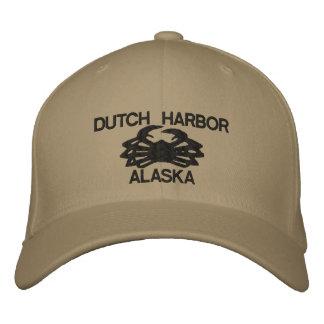 オランダ港のアラスカのタラバガニ刺繍された帽子 刺繍入りキャップ
