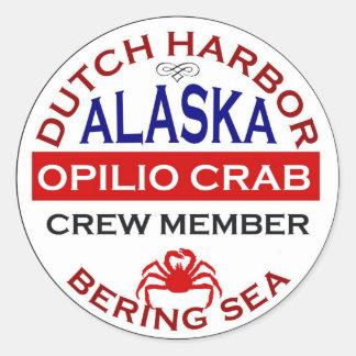 オランダ港のOpilioのカニの乗組員 ラウンドシール