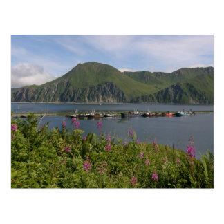 オランダ港、アラスカのつばのボート ポストカード