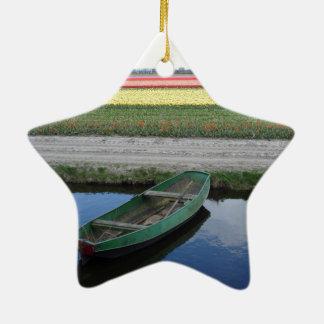 オランダ運河およびbulbfields セラミックオーナメント