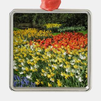 オランダ、Keukenhofからの花 メタルオーナメント