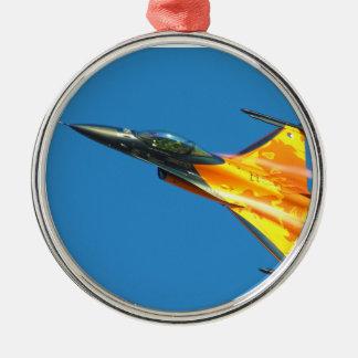 オランダF-16の戦いの《鳥》ハヤブサのジェット機の飛行機 メタルオーナメント