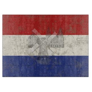 オランダID151の旗そして記号 カッティングボード