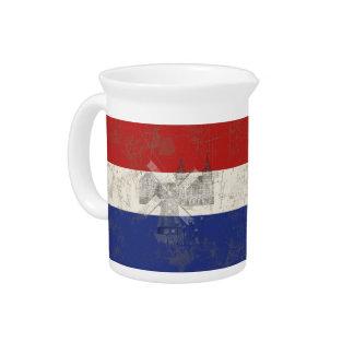 オランダID151の旗そして記号 ピッチャー