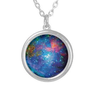 オリオンのよりきたない42星雲赤外線ESOの宇宙の写真 シルバープレートネックレス