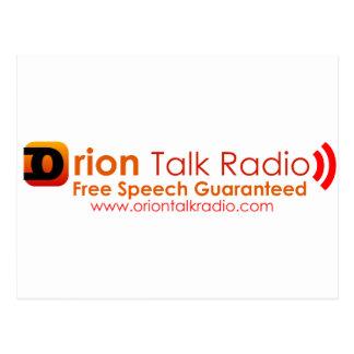 オリオンのトーク番組中心のラジオ放送 ポストカード