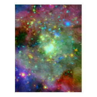 オリオンの印象派の星雲 ポストカード