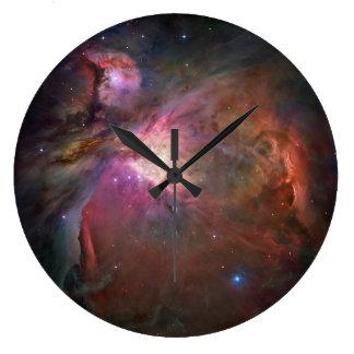 オリオンの星雲の円形の柱時計 ラージ壁時計