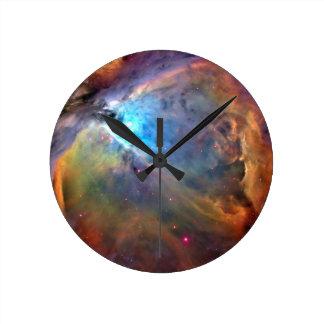 オリオンの星雲の宇宙の銀河系の時計 ラウンド壁時計