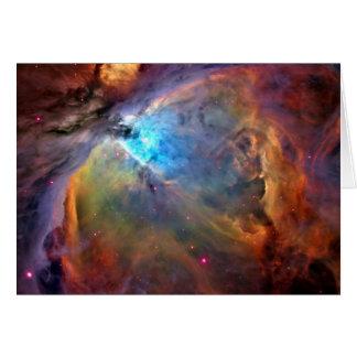 オリオンの星雲の宇宙の銀河系 グリーティングカード