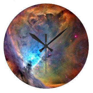 オリオンの星雲の宇宙の銀河系 ラージ壁時計