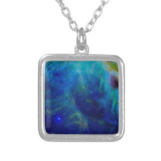 オリオンの星雲の宇宙銀河系の宇宙の宇宙 シルバープレートネックレス