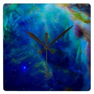オリオンの星雲の宇宙銀河系の宇宙の宇宙 スクエア壁時計