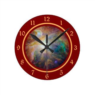 オリオンの星雲の星の出生地の無秩序 ラウンド壁時計