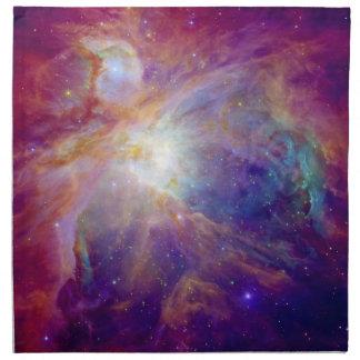 オリオンの星雲の暗い赤紫色ピンクNASA ナプキンクロス