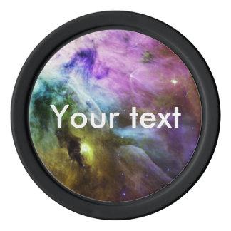 オリオンの星雲の紫色の渦巻NASA ポーカーチップ