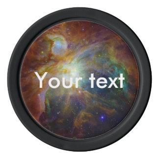 オリオンの星雲赤茶色NASA ポーカーチップ