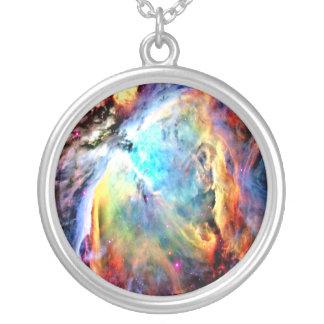 オリオンの星雲 シルバープレートネックレス