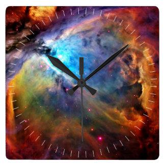 オリオンの星雲 スクエア壁時計