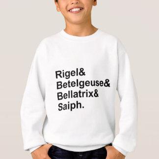 オリオンのRigelのベテルギウスのBellatrix Saiph |の星 スウェットシャツ