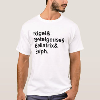オリオンのRigelのベテルギウスのBellatrix Saiph |の星 Tシャツ