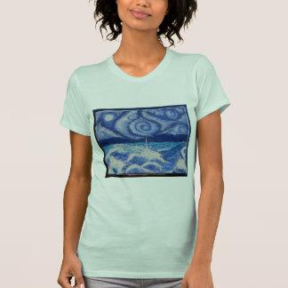 オリジナルのアートワークが付いている女性のティー Tシャツ