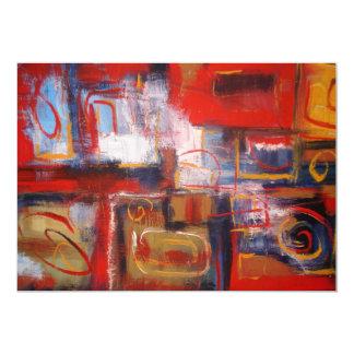 オリジナルの抽象的な絵画の芸術の招待状 12.7 X 17.8 インビテーションカード