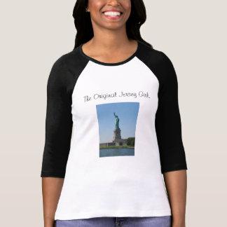 オリジナルのjerseyの女の子。、元のジャージー… tシャツ