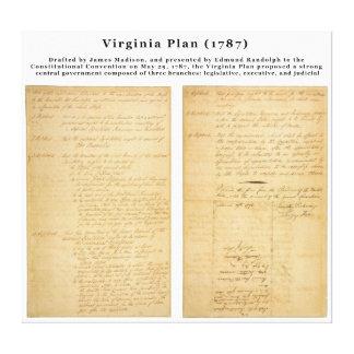オリジナルヴァージニアの計画1787年 キャンバスプリント