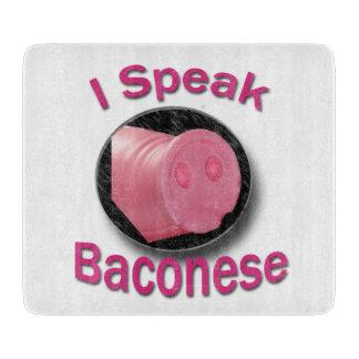 オリジナル私はBaconeseのまな板を話します カッティングボード