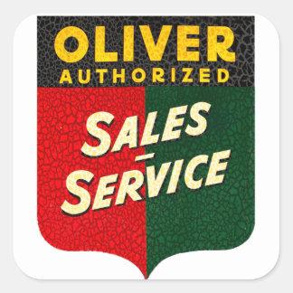 オリバーのトラクターのヴィンテージの販売およびサービス印 スクエアシール