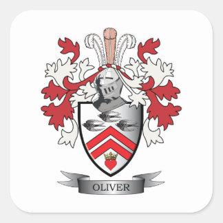 オリバーの家紋の紋章付き外衣 スクエアシール