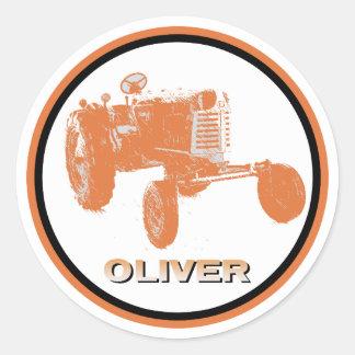 オリバーの農業のデカール ラウンドシール