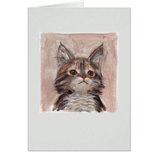 オリバー猫の挨拶状 グリーティングカード