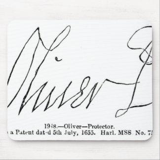 オリバー・クロムウェルの主のProtector署名 マウスパッド