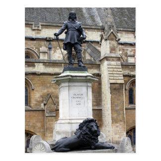 オリバー・クロムウェルの彫像-ロンドン-郵便はがき ポストカード